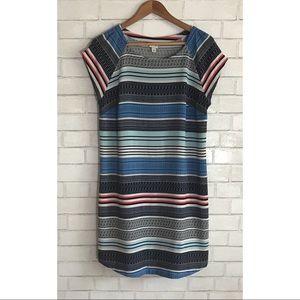 Merona mixed stripe print shift dress